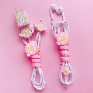 Sailormoon Earphone Wire Collector and Charging Cable Cover Set PN1201