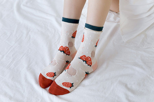 Fruits Strawberry and Banana Socks PN1480