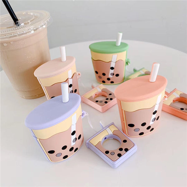 Bubble Tea Bottle Airpods Case For Iphone PN1138