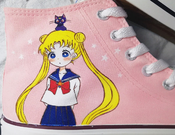 New Style Sailormoon Usagi Canvas Shoes PN1676