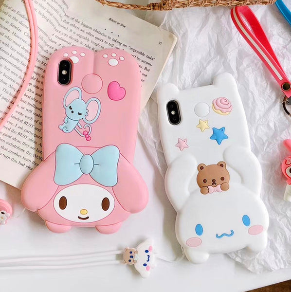 Cinnamoroll And Melody Phone Case for iphone 6/6s/6plus/7/7plus/8/8P/X/XS/XR/XS Max PN1865