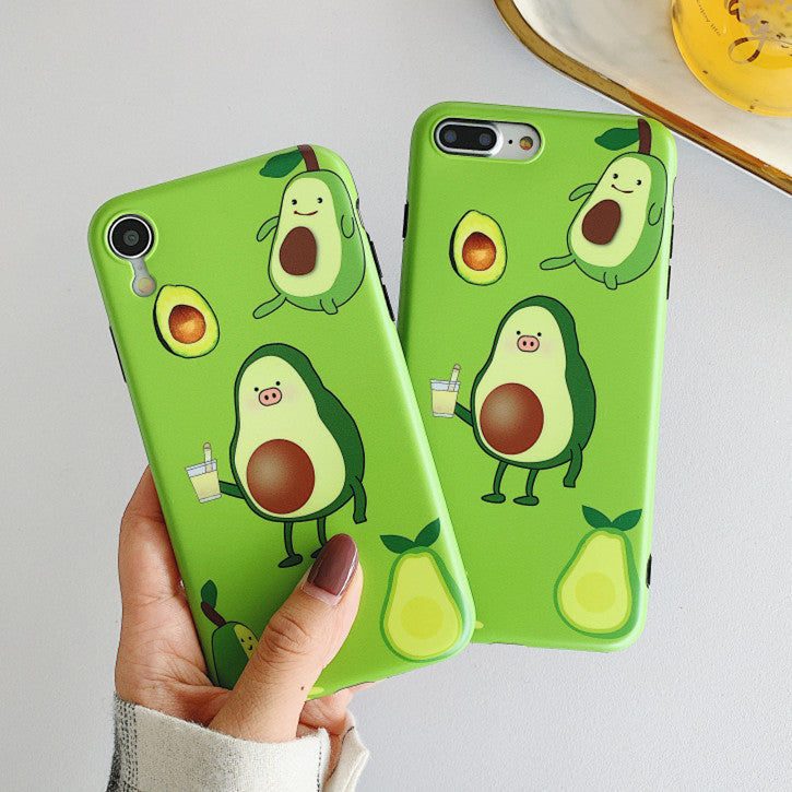 Cute Avocado Phone Case for iphone 6/6s/6plus/7/7plus/8/8P/X/XS/XR/XS Max PN1668