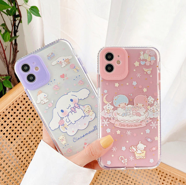 Cute Cinnamoroll Phone Case for iphone 7/7plus/8/8P/X/XS/XR/XS Max/11/11pro/11pro max PN2904