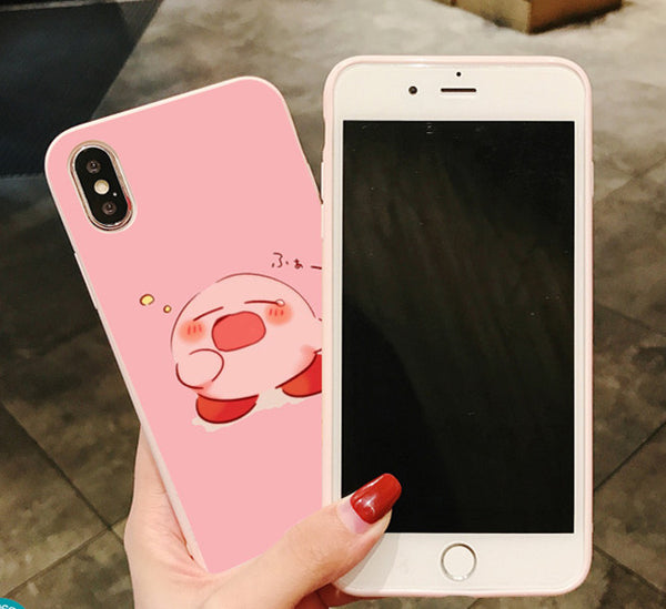 Kawaii Kirby Phone Case for iphone 6/6s/6plus/7/7plus/8/8P/X/XS/XR/XS Max PN1831