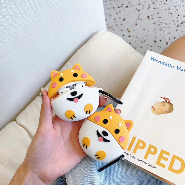 Cute Corgi Airpods Case For Iphone PN1740