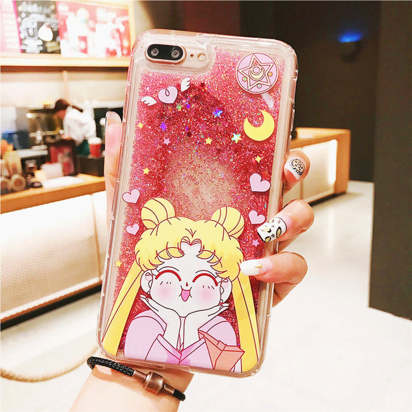 Quicksand Usagi Phone Case for iphone 6/6s/6plus/7/7plus/8/8P/X/XS/XR/XS Max/11/11pro/11pro max PN1035