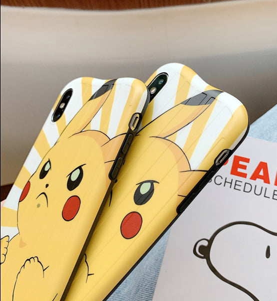 Lovely Pikachu Phone Case for iphone 6/6s/6plus/7/7plus/8/8P/X/XS/XR/XS Max PN1744
