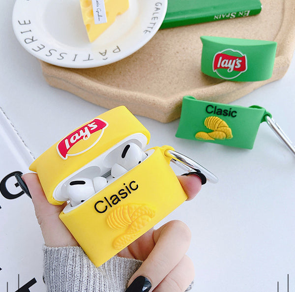 Cute Chips Airpods Case For Iphone PN2339