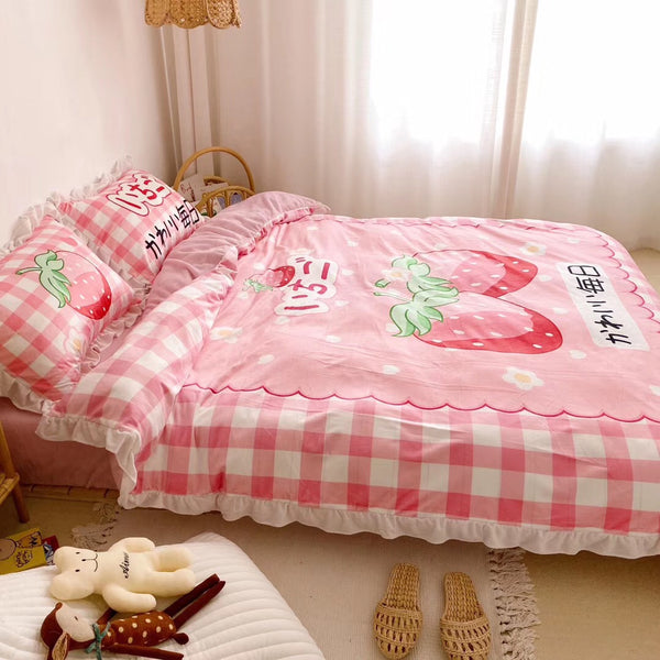 Cute Strawberry Bedding Set PN2052