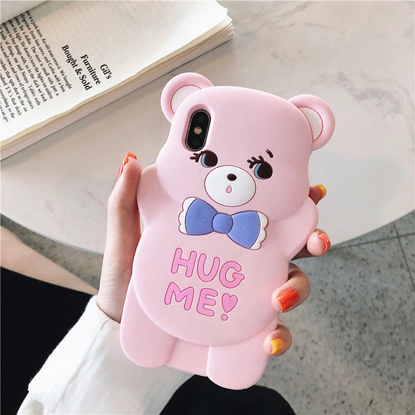 Lovely Lover Bears Phone Case for iphone 6/6s/6plus/7/7plus/8/8P/X/XS/XR/XS Max PN1647