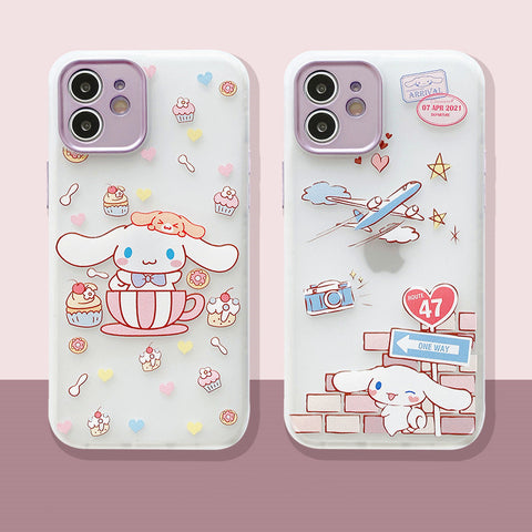 Cartoon Dog Phone Case for iphone 7/7plus/8/8P/X/XS/XR/XS Max/11/11pro/11pro max/12/12mini/12pro/12pro max PN3530