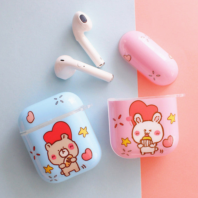 Cute Rabbit and Bear Airpods Case For Iphone PN1935