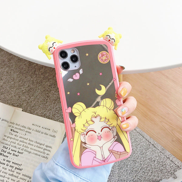 Cartoon Sailormoon Phone Case for iphone 7/7plus/8/8P/X/XS/XR/XS Max/11/11pro/11pro max PN2520