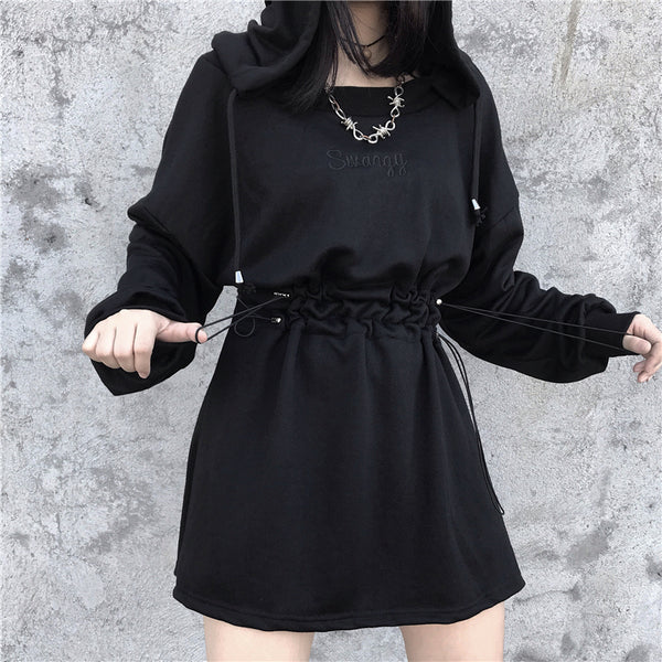 Black Cool Girl Dress PN2345