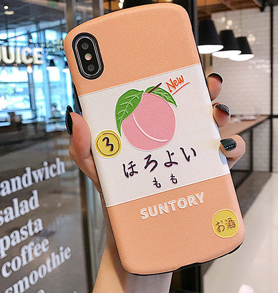 Strawberry and Peaches Phone Case for iphone 6/6s/6plus/7/7plus/8/8P/X/XS/XR/XS Max PN1646