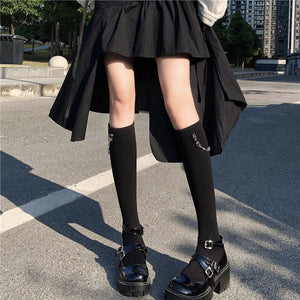 Black Cool Pattern Socks PN3393