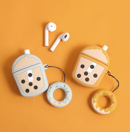 Cute Bubble Tea Bottle Airpods Case For Iphone PN2010