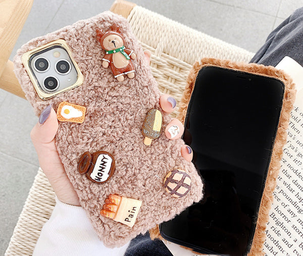 Cute Food Phone Case for iphone 7/7plus/8/8P/X/XS/XR/XS Max/11/11pro/11pro max PN2229