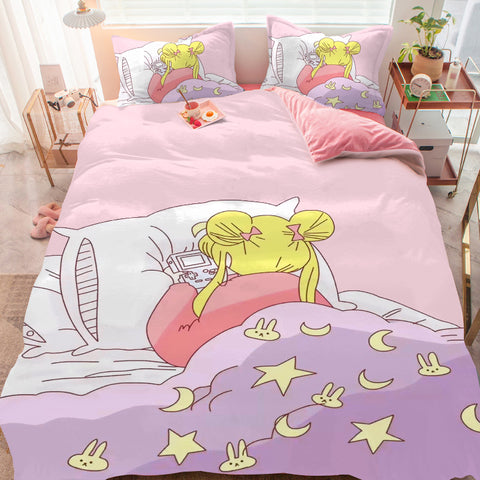 Play Game Usagi Bed sheet,Quiltcover,Pillowcover PN1891