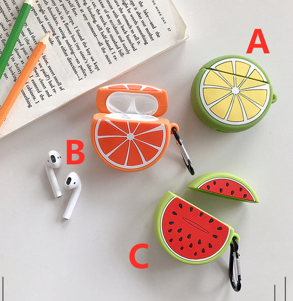 Kawaii Fruits Airpods Case For Iphone PN1584