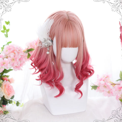 Fashion Lolita Red Pastel Wig PN2655