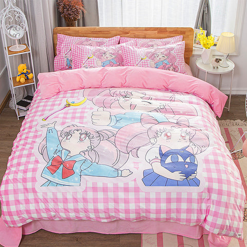 Lovely Chibiusa Bed sheet,Quiltcover,Pillowcover PN1892