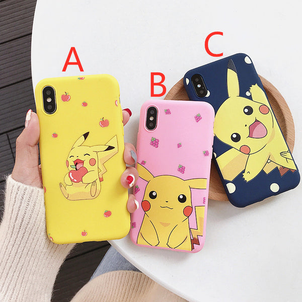 Lovely Pikachu Phone Case for iphone 6/6s/6plus/7/7plus/8/8P/X/XS/XR/XS Max PN1717
