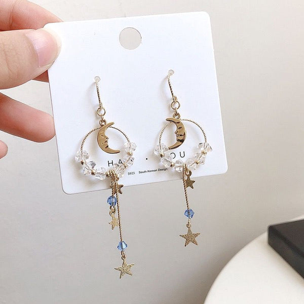 Cute Moon And Star Earrings/Clips PN1804