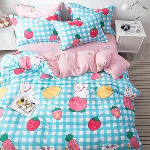 Blue Strawberry Bedding Set PN2852