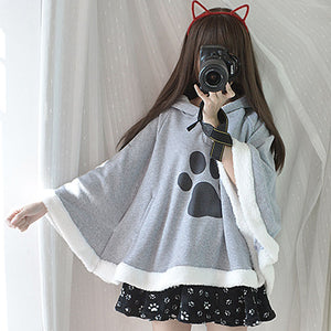 Cartoon Cats and Dog Shawl Cloak PN2117