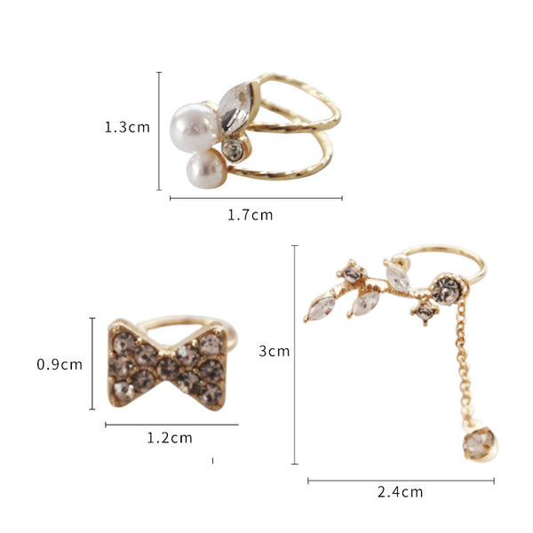 Fashion Butterfly and Pearl Clips Set PN1265