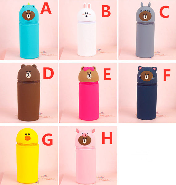 Kawaii Brown Extendable Pencil Bag PN1969