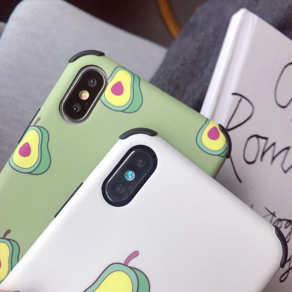 Kawaii Avocado Phone Case for iphone 6/6s/6plus/7/7plus/8/8P/X/XS/XR/XS Max PN1293