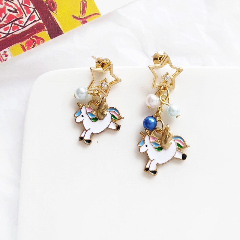 Fashion Unicorn Earrings/Clips PN1426