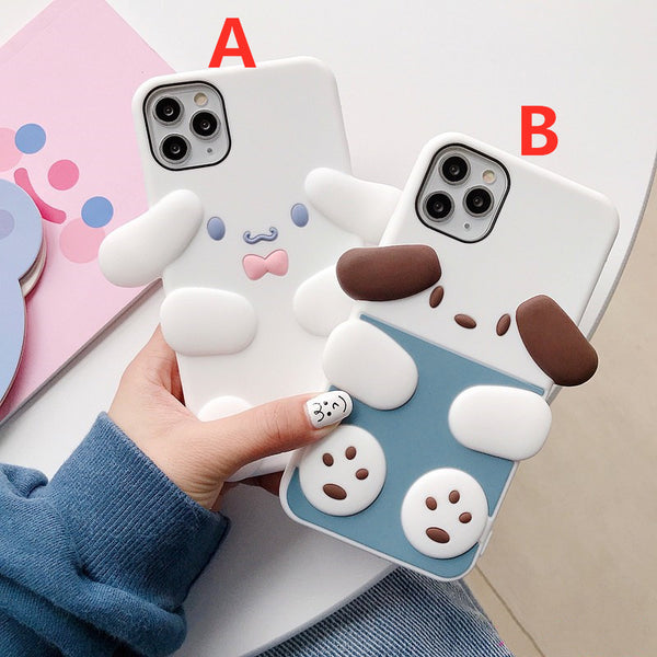 Cartoon Dogs Phone Case for iphone 7/7plus/8/8P/X/XS/XR/XS Max/11/11pro/11pro max PN2534