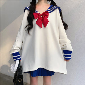 Sailormoon Navy Hoodie and Skirt Set PN2688