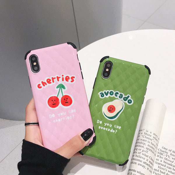 Cherry And Avocado Phone Case for iphone 6/6s/6plus/7/7plus/8/8P/X/XS/XR/XS Max PN1573