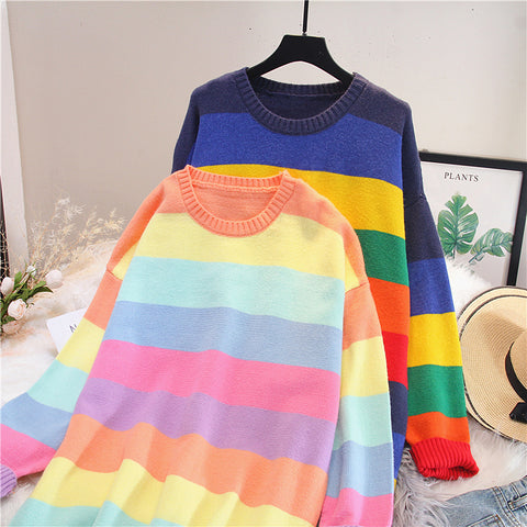 Fashion Rainbow Long Sweater PN1885