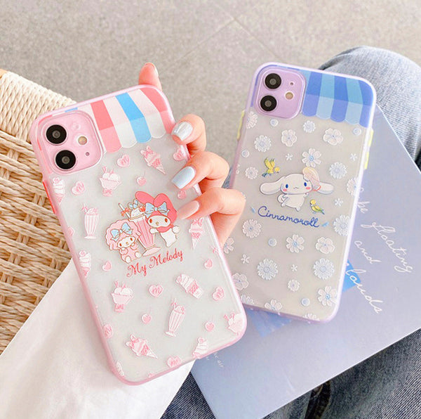 Cute Melody Phone Case for iphone 7/7plus/8/8P/X/XS/XR/XS Max/11/11pro/11pro max PN2910