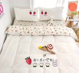 Rabbit Strawberry Bedding Set PN3688