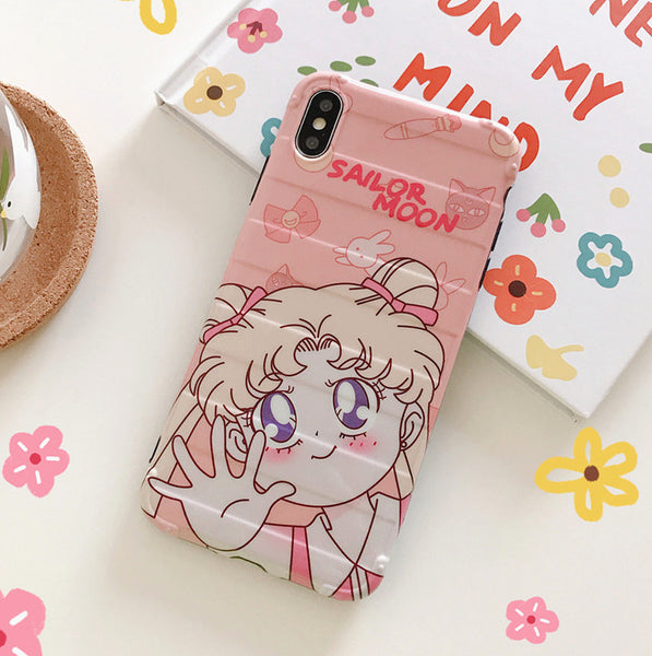 Cute Sailormoon Phone Case for iphone 6/6s/6plus/7/7plus/8/8P/X/XS/XR/XS Max PN1730