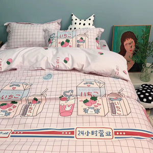 Strawberry Milk Bedding Set PN2637