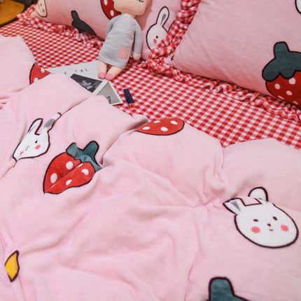 Rabbit Strawberry Bedding Set PN3412