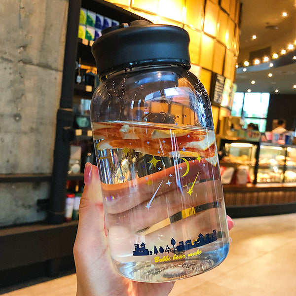 New Style Blue Sky Glass Water Bottle PN1768