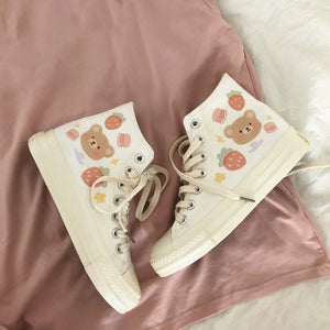 Cute Bear Canvas Shoes PN2862