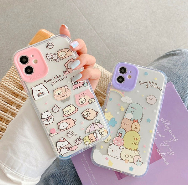 Kawaii Cartoon Phone Case for iphone 7/7plus/8/8P/X/XS/XR/XS Max/11/11pro/11pro max PN2787