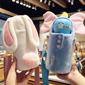Cute Rabbit and Unicorn Vacuum Bottle PN2335