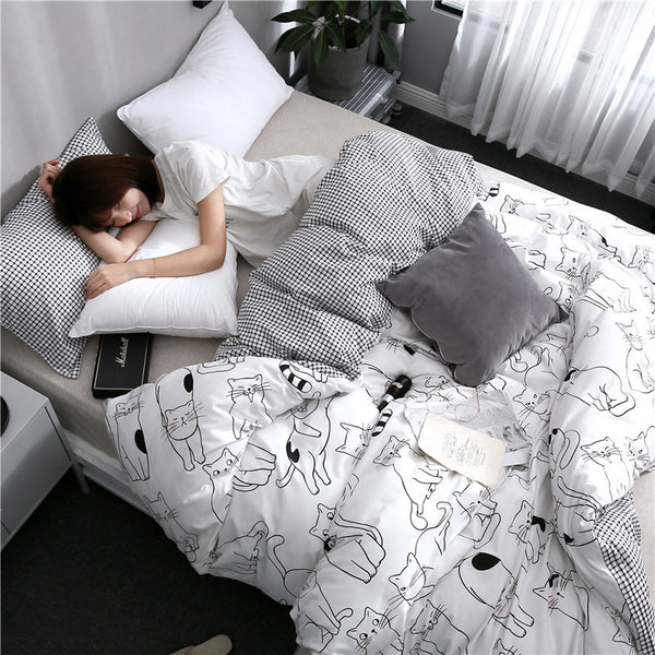 Black Cats Bedding Set PN1710