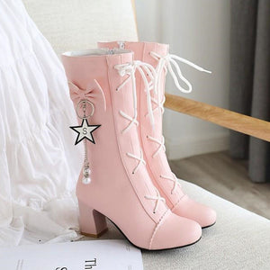 Fashion Girls High-heeled Martin Boots PN3186