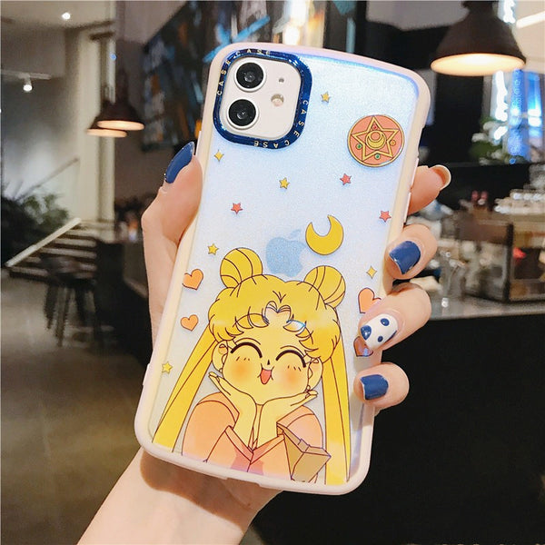Kawaii Sailormoon Phone Case for iphone 7/7plus/8/8P/X/XS/XR/XS Max/11/11pro/11pro max PN2536